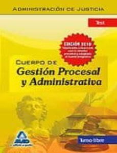 Ojpa.es Cuerpo De Gestion Procesal Y Administrativa De La Administracion De Justicia. Turno Libre. Test Image