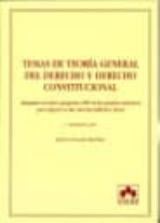 Srazceskychbohemu.cz Temas De Teoria General Del Derecho Y Derecho Constitucional (2ª Ed.) Image