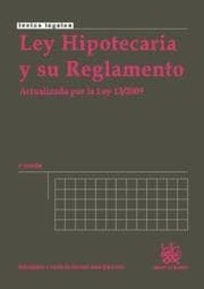 Alienazioneparentale.it Ley Hipotecaria Y Su Reglamento. Actualizada Por La Ley 13/2009. (2ª Ed.) Image