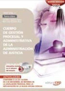 Permacultivo.es Cuerpo De Gestion Procesal Y Administrativa De La Administracion Turno Libre. Test Vol. I. Image