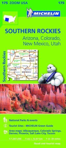 mapa zoom usa southern rockies-9782067190887