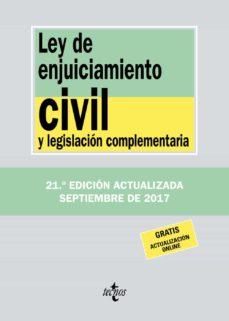 ley de enjuiciamiento civil y legislacion complementaria (21ª ed. )-victor moreno catena-9788430971787