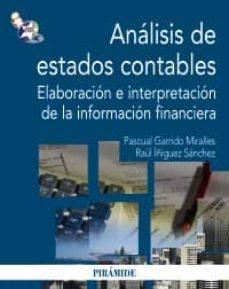 Inmaswan.es Analisis De Estados Contables: Elaboracion E Interpretacion De La Informacion Financiera Image