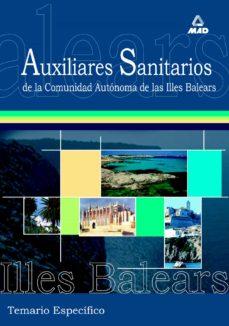 Ojpa.es Auxiliares Sanitarios Para Las Oposiciones A La Comunidad Autonom A De Las Islas Baleares: Temario Especifico Image