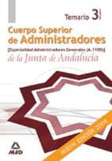 Curiouscongress.es Cuerpo Superior De Administradores De La Junta De Andalucia. Espe Cialidad Administradores Generales (A1100): Temario (Vol. Iii) Image
