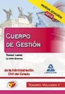 Viamistica.es Cuerpo De Gestion De La Administracion Civil Del Estado. Temario Volumen Ii. Turno Libre. La Union Europea Image