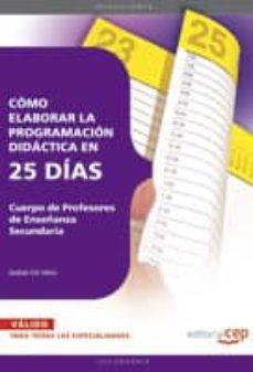 Mrnice.mx Cuerpo De Profesores De Enseñanza Secundaria. Como Elaborar La Pr Ogramacion Didactica En 25 Dias Image