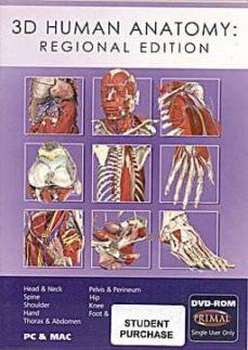 Libros de audio descargables franceses 3D HUMAN ANATOMY: REGIONAL EDITION (DVD-ROM) STUDENT EDITION