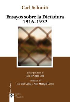 ensayos sobre la dictadura 1916-1932-carl schmitt-9788430958597
