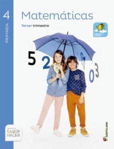 matematicas 4º primaria saber hacer ed 2015 trimestres-9788483056097
