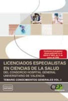 Inmaswan.es Licenciados Especialistas En Ciencias De La Salud Del Consorcio Hospital Generalvalencia Temario Vol I Conocimientos Generales Image