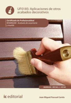 aplicación de otros acabados decorativos. mamr0208 (ebook)-juan miguel pascual cortés-9788491984597
