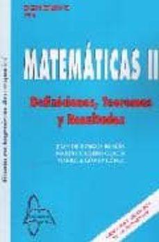 Inmaswan.es Matematicas Ii: Definiciones Teoremas Y Resultados. Grado Ingenie Ria Aeroespacial Image