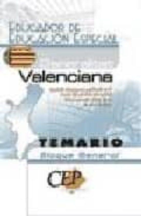 EDUCADOR DE EDUCACION ESPECIAL DE LA GENERALITAT VALENCIANA. TEMA RIO. BLOQUE GENERAL