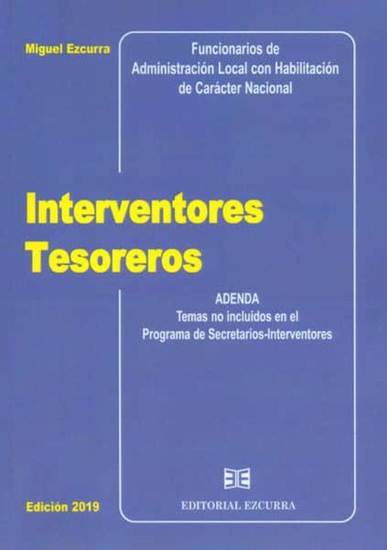 INTERVENTORES TESOREROS. ADENDA. TEMAS NO INCLUIDOS EN EL PROGRAM A DE SECRETARIOS INTERVENTORES
