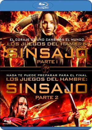 Pack Los Juegos Del Hambre Sinsajo 1 2 Blu Ray De