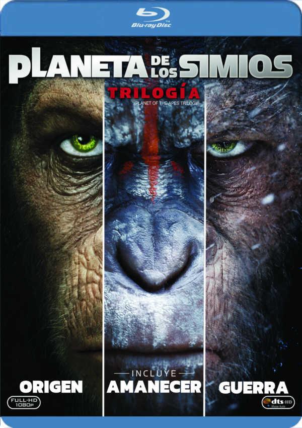 trilogía planeta de los simios - blu ray --8420266010711