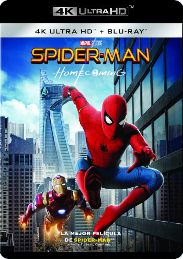 spider-man homecoming - 4k uhd + blu ray --8414533109062