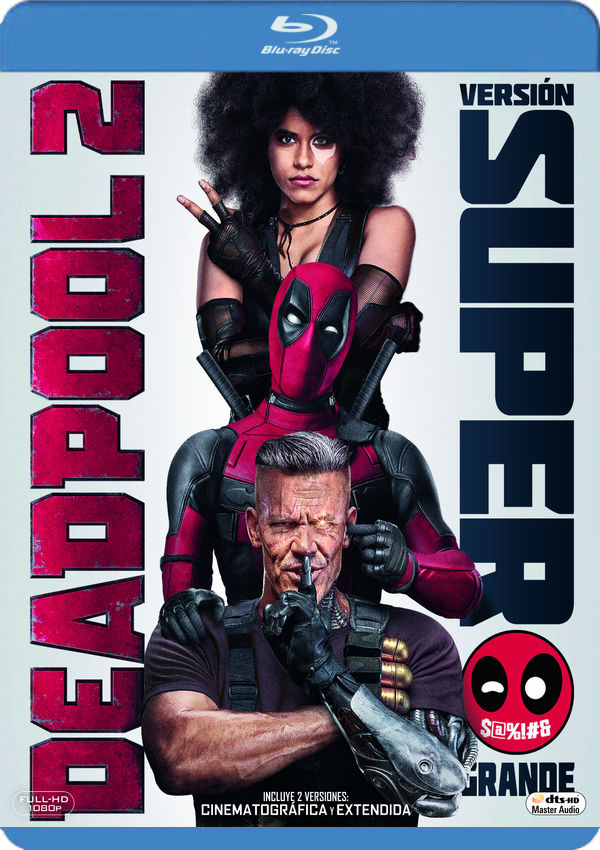 deadpool 2 - blu ray --8420266016980